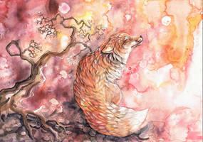 Solitary Fox by dawndelver