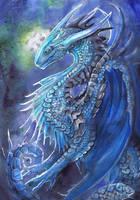 Blue Dragon by dawndelver
