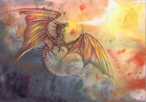 Red dragon by dawndelver