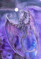 Violet Dragon by dawndelver