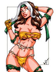 Savage Land Rogue sketch by gb2k