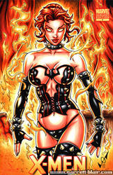 Hellfire Phoenix sketch cover comm by gb2k