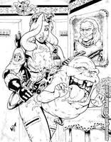 Jessica + Slimer inks by gb2k