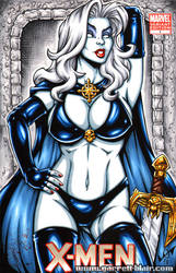 Lady Death Sketch Cover commission by gb2k