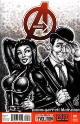 Original Avengers sketch cover by gb2k