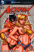 Batgirl + Supergirl tease sketch cover by gb2k