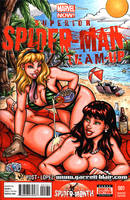 Mary Jane + Gwen beach sketch cover by gb2k