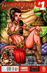 Slave Leia sketch cover by gb2k