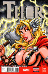 Female Thor bust cover by gb2k