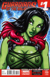 Naughty Gamora bust cover by gb2k