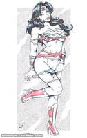 Savage Land Wonder Woman blueline bodyshot pencils by gb2k