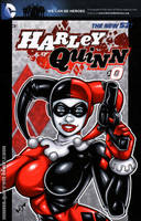 Classic Harley Quinn cover commission by gb2k