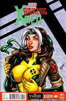 90s Rogue bust cover by gb2k