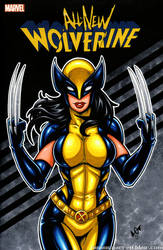 All New Wolverine / X23 sketch cover by gb2k