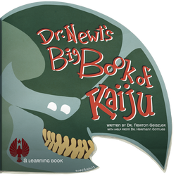 Dr. Newt's Big Book of Kaiju Cover by korybing