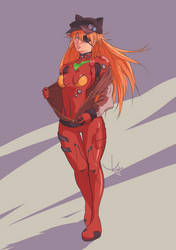 [Flat Colors] Asuka Langley by RogerKmpo