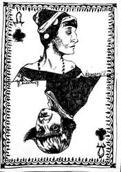 Anna, the Queen of Clubs by Etrangerre