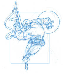 Captain America by KingOlie