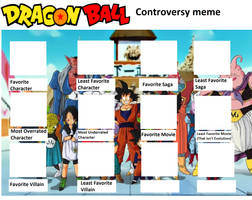 Dragon Ball Controversy Template by somari1997