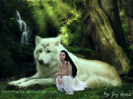 Amy Lee and Wolve by JoyWitchLee