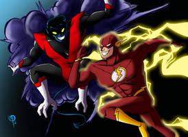 Flash vs Nightcrawler by Chillguydraws