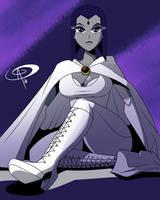 Tara Strong's White Raven by Chillguydraws