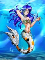 -Koi Mermaid: Beauty In Blue- by BridgeChan