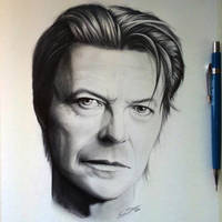 David Bowie Drawing - Tribute by LethalChris