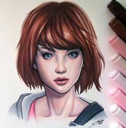 Max Caulfield - Life is Strange - Copic Drawing by LethalChris