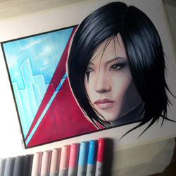 Faith Connors from Mirror's Edge - Copic Drawing by LethalChris