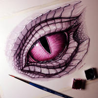 Dragon Eye Painting by LethalChris