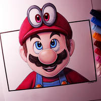 Mario and Cappy - Super Mario Odyssey Drawing by LethalChris