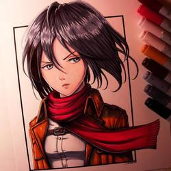 Mikasa Ackerman Drawing by LethalChris