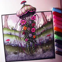 Forest Jellyfish Drawing by LethalChris