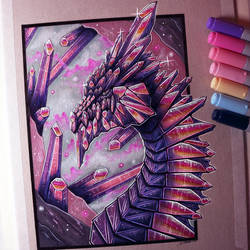 Crystal Dragon Drawing by LethalChris