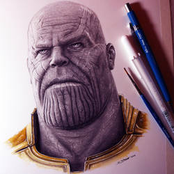 Thanos from Avengers: Infinity War - Drawing by LethalChris