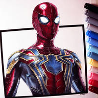 Spider-Man Drawing - Iron Spider Suit by LethalChris