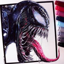 Venom Drawing by LethalChris