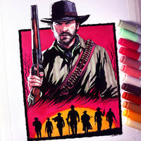 Red Dead Redemption 2 Drawing by LethalChris