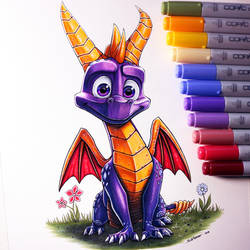 Spyro the Dragon Drawing by LethalChris