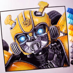 Bumblebee Drawing by LethalChris