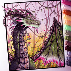 Jungle Dragon Drawing by LethalChris