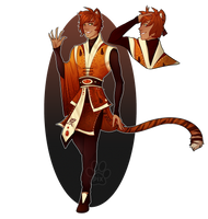 [Auction] Zodiac Adopt- Tiger (Closed! by Pixel-Latte