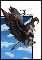 PKMN Art Card - Staravia by aoibara