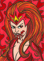 Sketchcard Mera Red Lantern by RichBernatovech