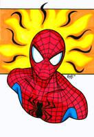 Spiderman Headshot by RichBernatovech
