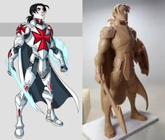 Drumfish Templar Statue - progress by RichBernatovech