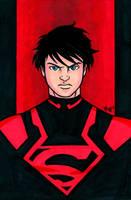 Superboy DCNu Headshot by RichBernatovech