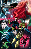 X-Men Colored! by RichBernatovech