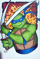 2013 HeroesCon Commission Leonardo TMNT by RichBernatovech